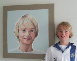 Portret in opdracht 1 met model