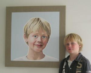 Portret in opdracht 2 met model